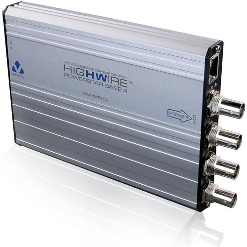 Veracity HIGHWIRE 4-Port Ethernet over Coax PowerStar Base Unit