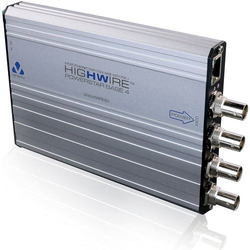 Veracity HIGHWIRE 4-Port Ethernet over Coax PowerStar Base Unit