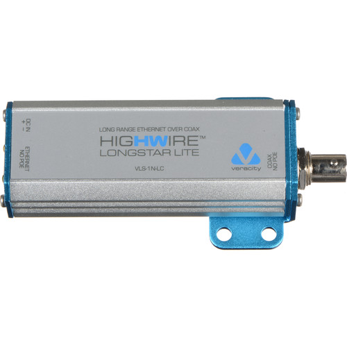 Veracity HIGHWIRE Longstar Lite Long Range Ethernet over Coax Adapter (Non-PoE)