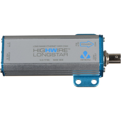 Veracity HIGHWIRE Longstar Long Range Ethernet over Coax Adapter with PoE (Base Side)