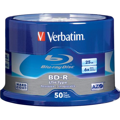 Verbatim BD-R LTH 25GB 6x Discs (Spindle, 50-Pack)