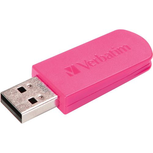 Verbatim 8GB Mini Store 'n' Go USB 2.0 Flash Drive (Pink)