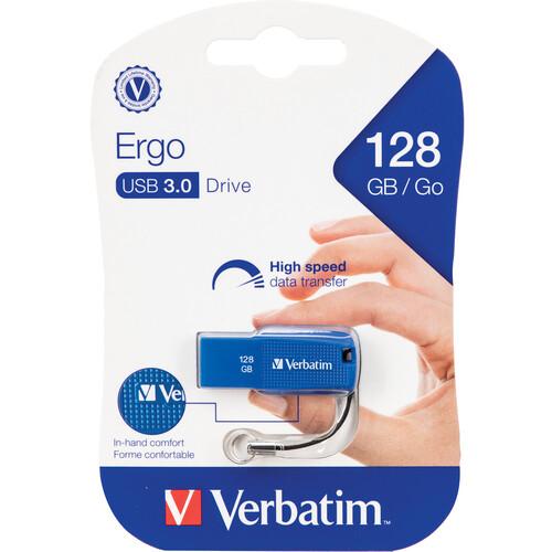 Verbatim 128GB Ergo USB 3.1 Gen 1 Flash Drive (Blue)