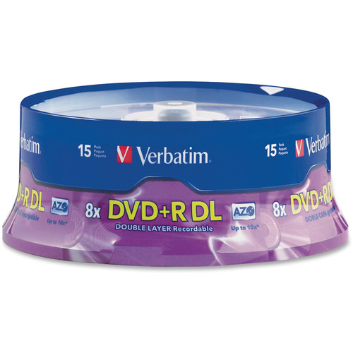 Verbatim DVD+R Double Layer 8.5GB 8x Recordable Disc (Spindle Pack of 15)
