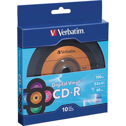 Verbatim Digital Vinyl CD-R 700MB/80 Minutes Disc (Pack of 10)