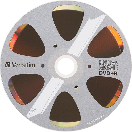Verbatim DigitalMovie DVD+R 4.7GB/80 Minutes 8x Disc (Pack of 10)