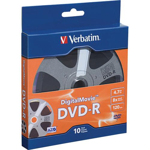 Verbatim Digital Movie DVD-R 4.7GB/120 Minutes Disc (Pack of 10)