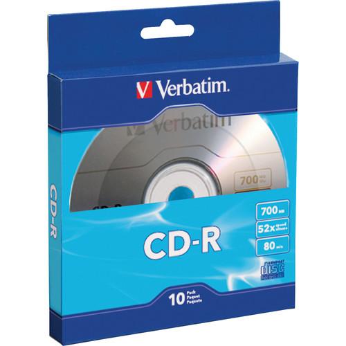 Verbatim CD-R 700MB/80 Minutes Disc (Pack of 10)