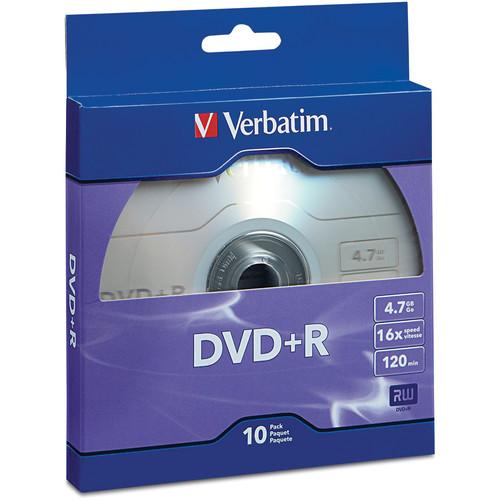 Verbatim DVD+R 4.7GB/120 Minutes 16x Disc (Pack of 10)