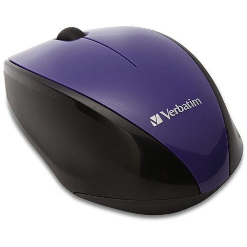 Verbatim Wireless Multi-Trac Blue LED Optical Mouse (Purple)