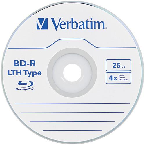 Verbatim 25GB BD-R LTH Blu-ray 4x Discs (50-Pack Spindle)