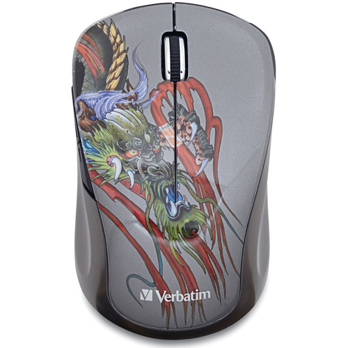 Verbatim Tattoo Series Wireless Notebook Blue LED Mouse (Dragon)
