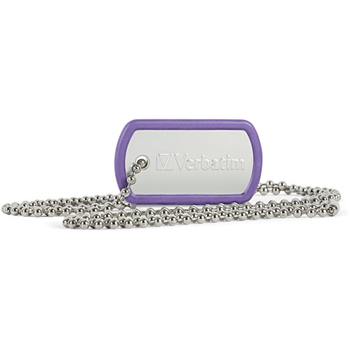 Verbatim 16GB Dog Tag USB Flash Drive (Violet)