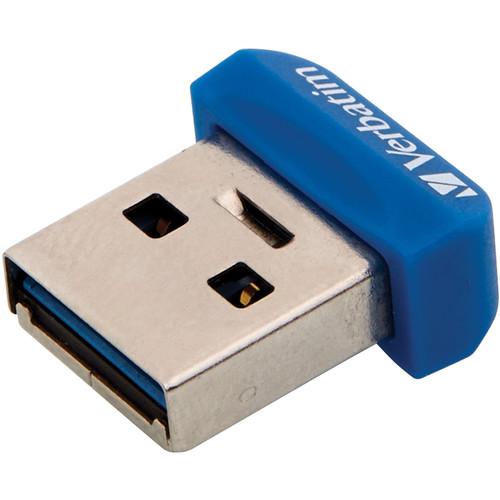 Verbatim 64GB Store 'n' Stay Nano USB 3.0 Flash Drive (Blue)