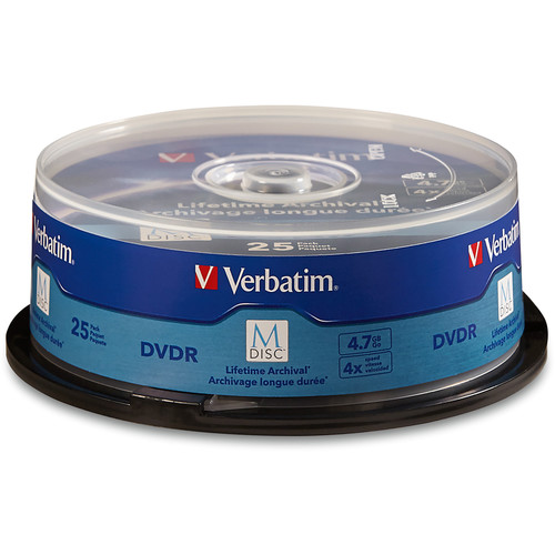 Verbatim M-Disc 4.7GB DVD-R Discs (Spindle, 25-Pack)