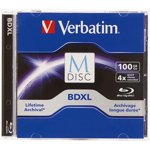 Verbatim M-Disc BDXL 100GB 4x Blu-ray Discs (Jewel Case, Single)