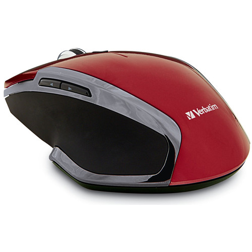 Verbatim Wireless Notebook 6-Button Deluxe Blue LED Mouse (Red)