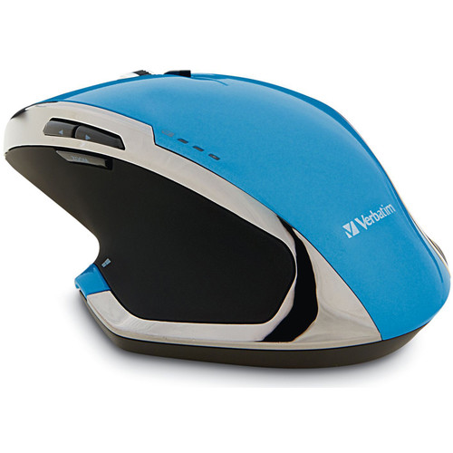 Verbatim Wireless Notebook 8-Button Deluxe Blue LED Mouse (Blue)