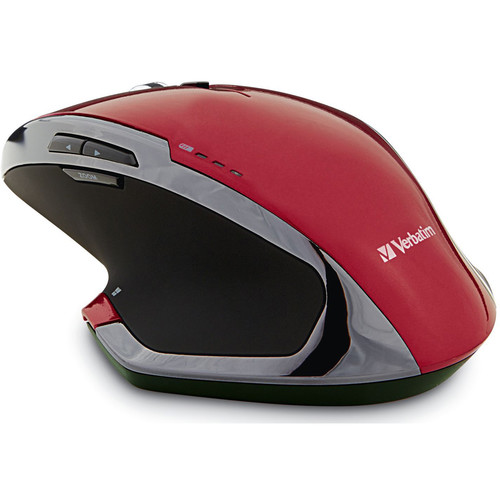 Verbatim Wireless Notebook 8-Button Deluxe Blue LED Mouse (Red)