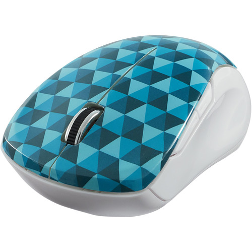 Verbatim Wireless Notebook Multi-Trac Mouse (Diamond Pattern Blue)