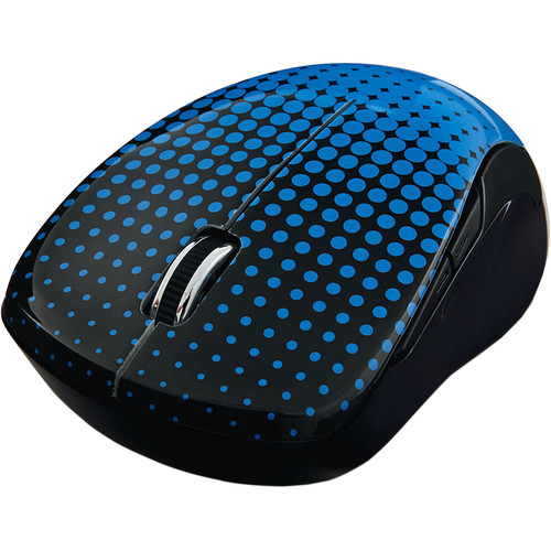 Verbatim Wireless Notebook Multi-Trac Blue LED Mouse (Dot Pattern Blue)