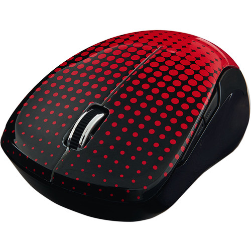 Verbatim Wireless Notebook Multi-Trac Blue LED Mouse (Dot Pattern Red)