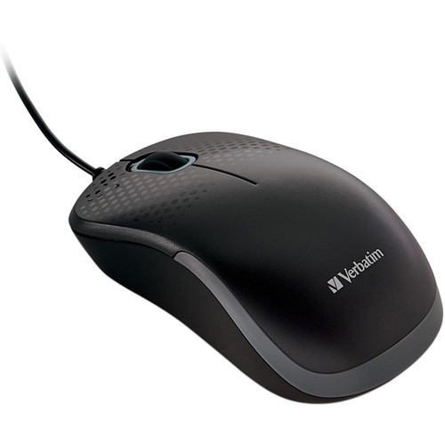 Verbatim Silent Corded Optical Mouse (Black)