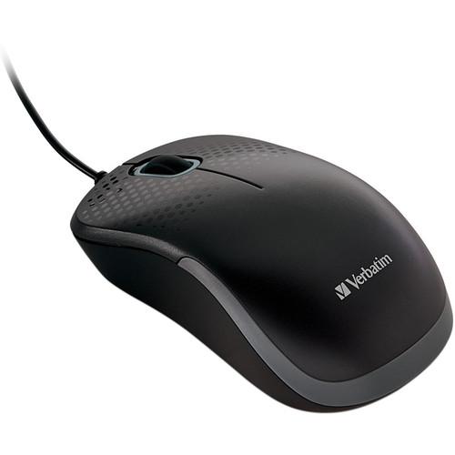 Verbatim Silent Corded Optical Mouse (Black)