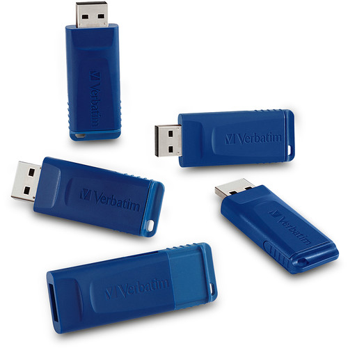 Verbatim 16GB USB Flash Drive (Blue, 5-Pack)