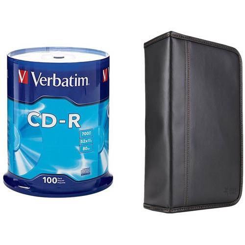 Verbatim CD-R 700MB Disc Kit with 100-Capacity Disc Wallet