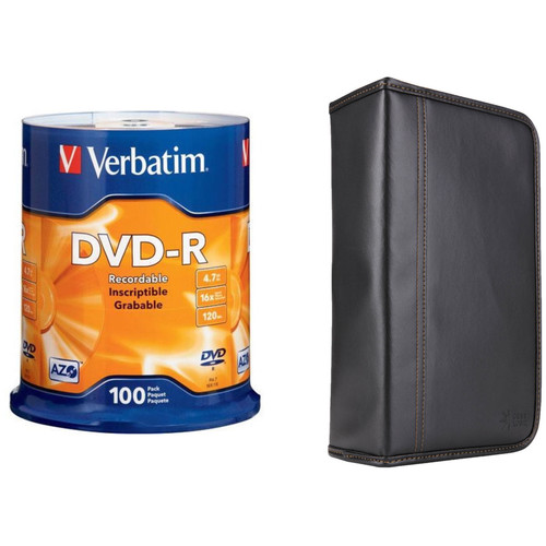 Verbatim DVD-R 4.76GB 16x Disc Kit with 100-Capacity Disc Wallet