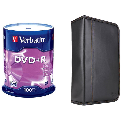Verbatim DVD+R 4.7GB 16x Disc Kit with 100-Capacity Disc Wallet