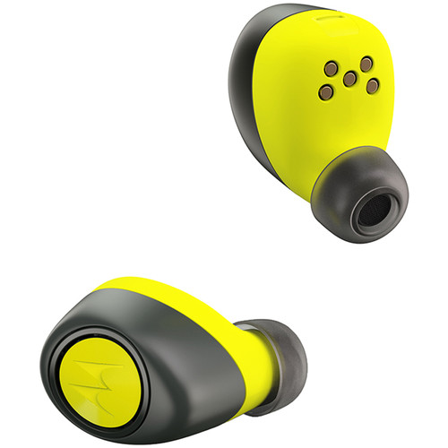 VerveLife by Motorola VerveOnes+ Music Edition Bluetooth Wireless Earbuds (Black/Lime)