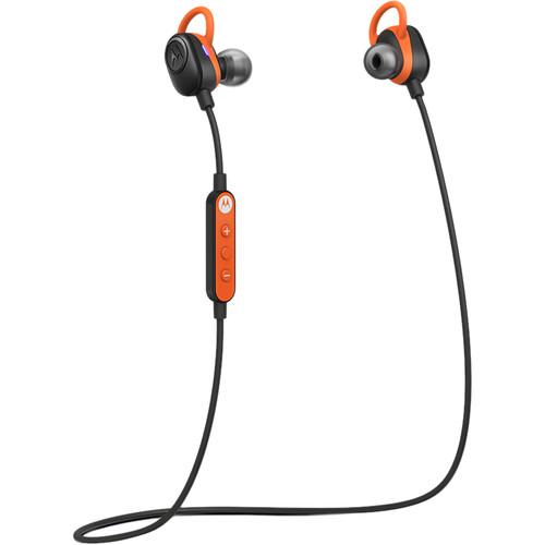 VerveLife by Motorola VerveLoop Bluetooth Sports Earbuds (Black/Orange)