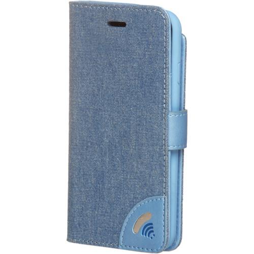 VEST iPhone 7 Anti-Radiation Wallet Case - Jeans