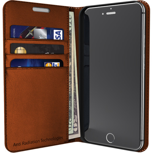 VEST Anti-Radiation Wallet Case for iPhone 6/6s (Brown)