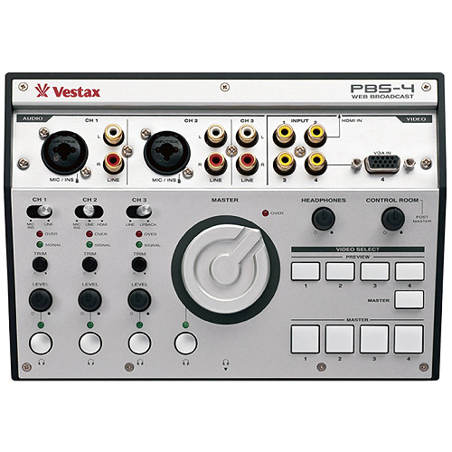 Vestax PBS-4 Personal Live Web Broadcasting Audio & Video Mixer