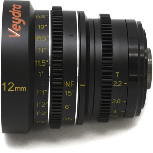 Veydra 12mm T2.2 Mini Prime Lens (C-Mount, Feet)