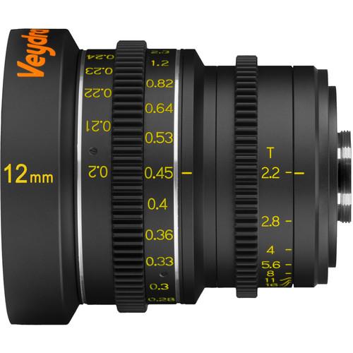Veydra 12mm T2.2 Mini Prime Lens (C-Mount, Meters)