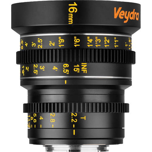 Veydra 16mm T2.2 Mini Prime Lens (MFT Mount, Feet)