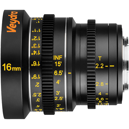 Veydra 16mm T2.2 Mini Prime Lens (MFT Mount, Meters)