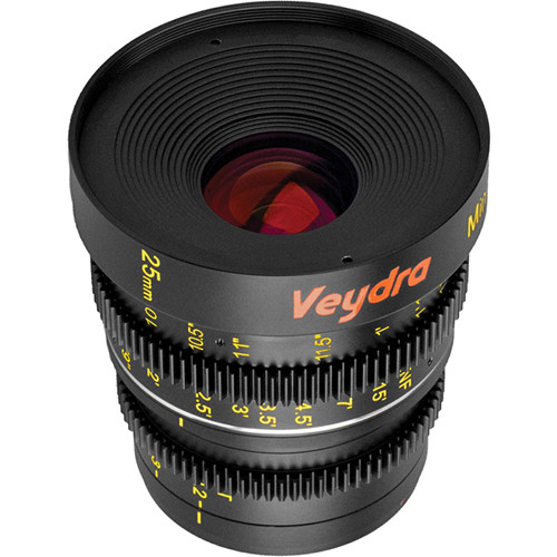 Veydra 25mm T2.2 Mini Prime Lens (MFT Mount, Feet)