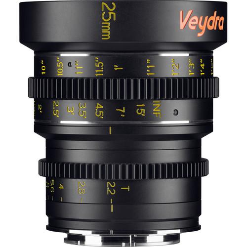 Veydra 25mm T2.2 Mini Prime Lens (Sony E-Mount, Feet)