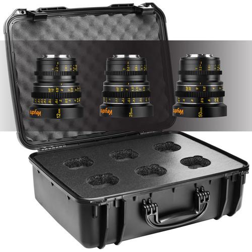 Veydra Mini Prime 3 Lens Starter Kit with 6 Lens Case (MFT Mount, Feet)