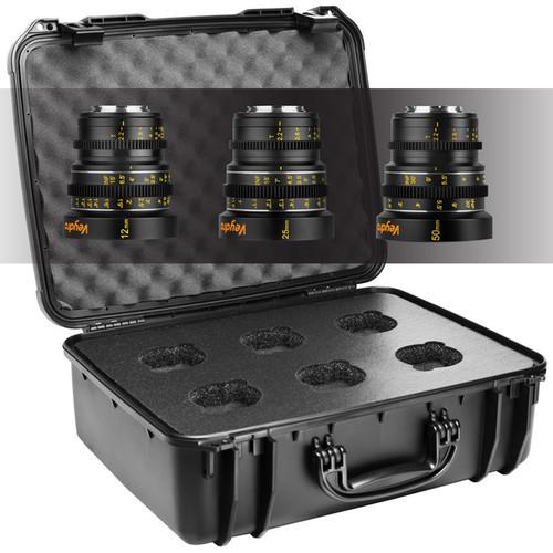 Veydra Mini Prime 3 Lens Starter Kit with 6 Lens Case (MFT Mount, Meters)