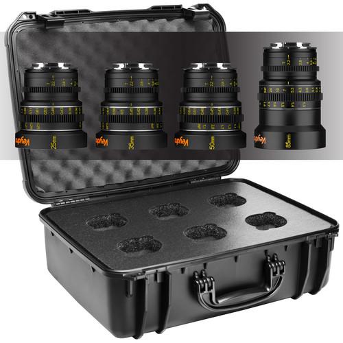 Veydra Mini Prime 4 Lens Kit with 6 Lens Case (Sony-E Mount, Meters)