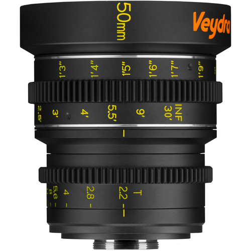 Veydra 50mm T2.2 Mini Prime Lens (C-Mount, Feet)