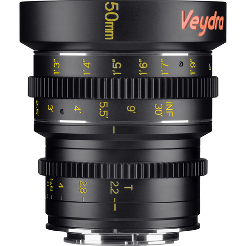 Veydra 50mm T2.2 Mini Prime Lens (Sony E-Mount, Feet)