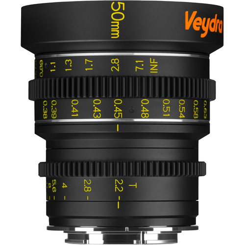 Veydra 50mm T2.2 Mini Prime Lens (Sony E-Mount, Meters)
