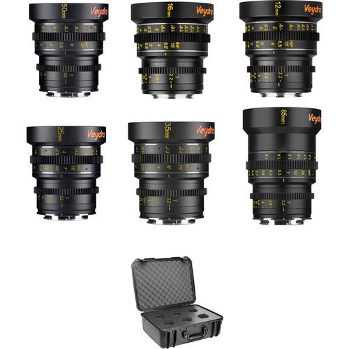 Veydra Mini Prime 6 Lens Master Lens Kit with 6 Lens Case (MFT Mount, Feet)